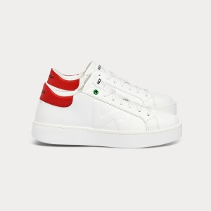 Woman Sneakers CONCEPT WHITE RED White WOMAN