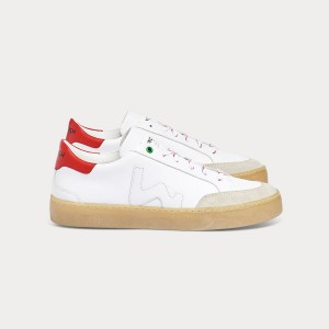 Man Sneakers HECTOR WHITE RED White MAN