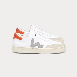 Man Sneakers HECTOR WHITE ORANGE  White MAN