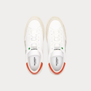 Sneakers Womsh Man Sneakers HECTOR WHITE ORANGE  H190553