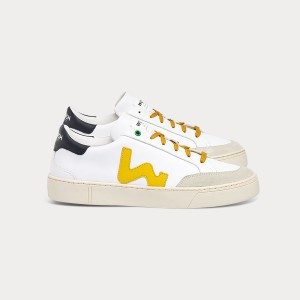Man Sneakers HECTOR WHITE OCHRE White MAN