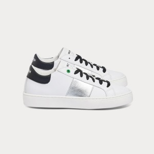 Woman Sneakers KINGSTON WHITE SILVER BLACK  White WOMAN