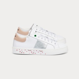 Woman Sneakers KINGSTON WHITE SILVER ROSE White WOMAN