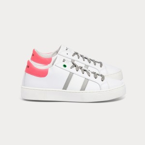 Woman Sneakers KINGSTON WHITE GREY FUXIA  White WOMAN