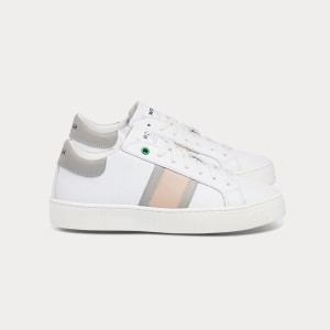 Woman Sneakers KINGSTON WHITE GREY ROSE  White WOMAN