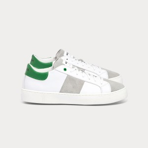 Man Sneakers KINGSTON WHITE GREEN White MAN