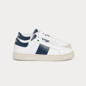 Man Sneakers KINGSTON WHITE BLU White MAN