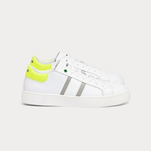 Man Sneakers KINGSTON WHITE GREY FLUO White MAN