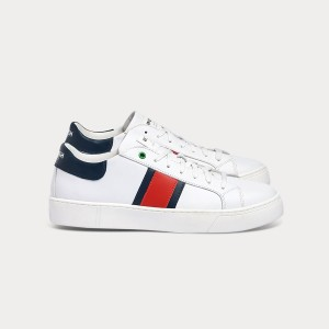 Man Sneakers KINGSTON WHITE BLU RED White MAN