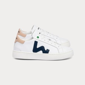 Woman Sneakers SNIK WHITE BLACK ROSE White WOMAN