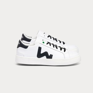 Man Sneakers SNIK WHITE BLACK White MAN
