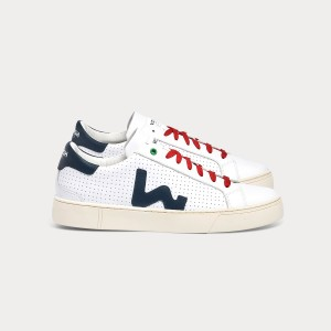 Man Sneakers SNIK WHITE BLU White MAN
