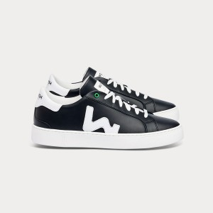 Man Sneakers SNIK BLACK WHITE Black MAN