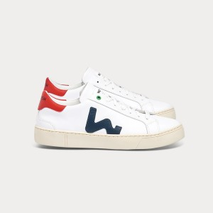 Man Sneakers SNIK WHITE BLUE RED White MAN