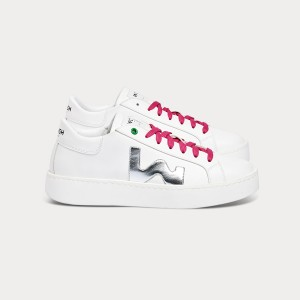 Sneakers Donna VEGAN CONCEPT WHITE SILVER Bianco Donna