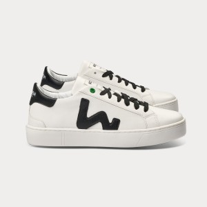 Woman Sneakers VEGAN SNIK WHITE BLACK White UNISEX