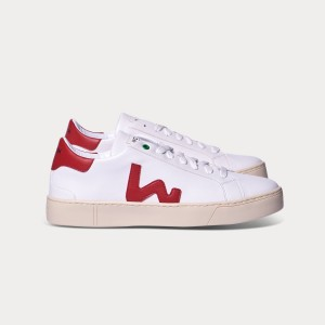 Woman Sneakers VEGAN SNIK WHITE RED White UNISEX