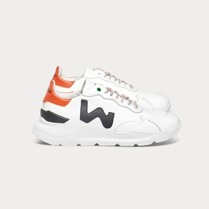 Man Sneakers WAVE WHITE BLACK ORANGE White MAN
