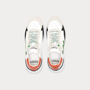 Sneakers Womsh Man Sneakers WAVE WHITE GREEN ORANGE W190853