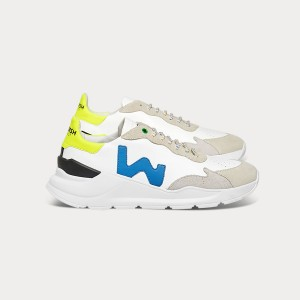 Woman Sneakers WAVE WHITE SKY FLUO White UNISEX