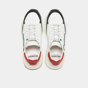 Sneakers Womsh  WAVE WHITE BLACK RED W290804