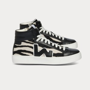 Woman Sneakers BASK BLACK ZEBRA Black WOMAN