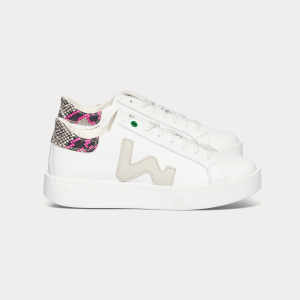 Woman Sneakers CONCEPT WHITE SNAKE FUXIA White WOMAN