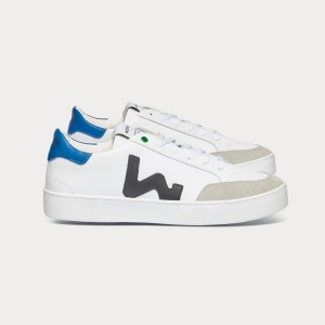 Man Sneakers HECTOR WHITE BLACK BLUE White MAN