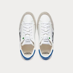 Sneakers Womsh Man Sneakers HECTOR WHITE BLACK BLUE H201552