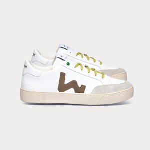Man Sneakers HECTOR WHITE GREEN White MAN