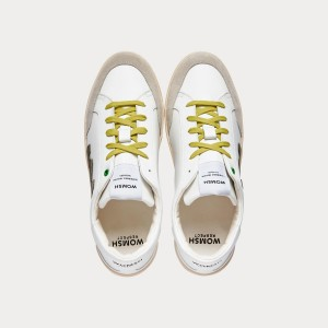 Sneakers Womsh Man Sneakers HECTOR WHITE GREEN H201553