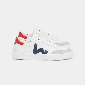 Man Sneakers HECTOR WHITE BLUE White MAN