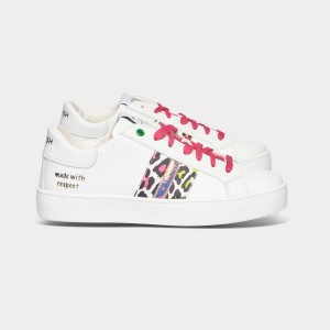 Woman Sneakers KINGSTON WHITE FUXIA LEMON White WOMAN