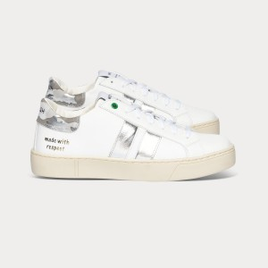 Woman Sneakers KINGSTON WHITE SILVER White WOMAN