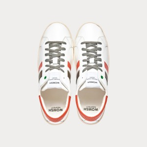 Sneakers Womsh Man Sneakers KINGSTON WHITE ORANGE GREY K201651