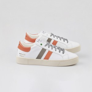 Man Sneakers KINGSTON WHITE ORANGE GREY White MAN