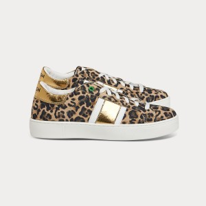 Sei bellissima KINGSTON LEOPARD GOLD Nero Donna