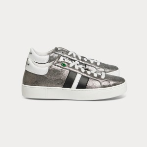 Woman Sneakers KINGSTON INOX BLACK GRIGIO WOMAN