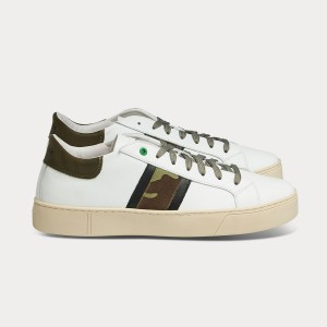 Man Sneakers KINGSTON WHITE CAMO White MAN