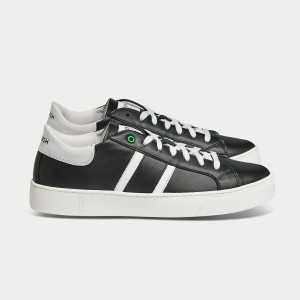 Man Sneakers KINGSTON BLACK WHITE Black MAN