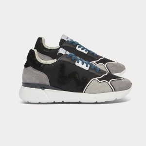 Woman Sneakers RUNNY GREY Black WOMAN