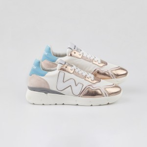Woman Sneakers RUNNY WHITE METALLIC ROSA WOMAN