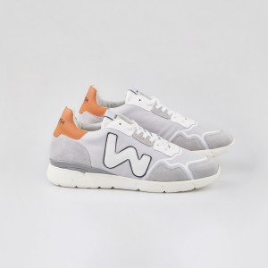 Man Sneakers RUNNY GREY ORANGE GRIGIO MAN