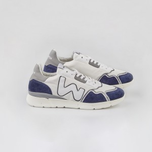 Man Sneakers RUNNY WHITE BLU White MAN