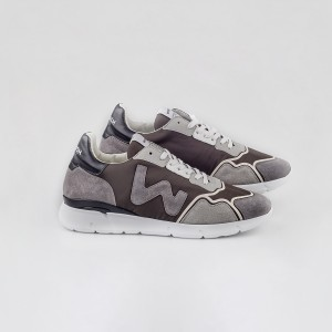 Man Sneakers RUNNY GREY BLACK MARRONE MAN