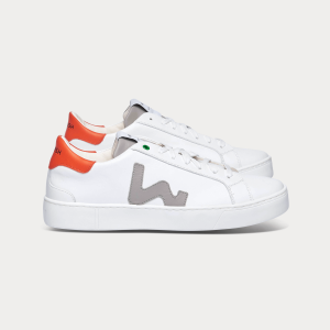 Man Sneakers SNIK WHITE GREY ORANGE White MAN