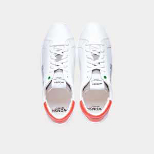 Sneakers Womsh Man Sneakers SNIK WHITE GREY ORANGE S201252