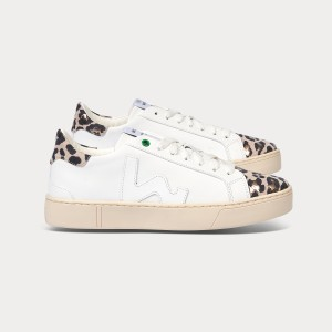 Woman Sneakers SNIK WHITE CAMEL PRINT White WOMAN