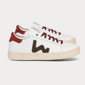 Man Sneakers SNIK WHITE MILITARY RED White MAN