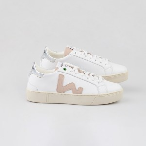 Woman Sneakers SNIK WHITE ROSE White WOMAN